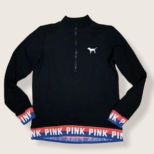 PINK black perfect quarter zip sweatshirt